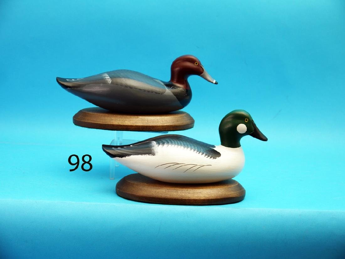TWO ONE-THIRD SIZE DECOYS, possibly from the Mitchell