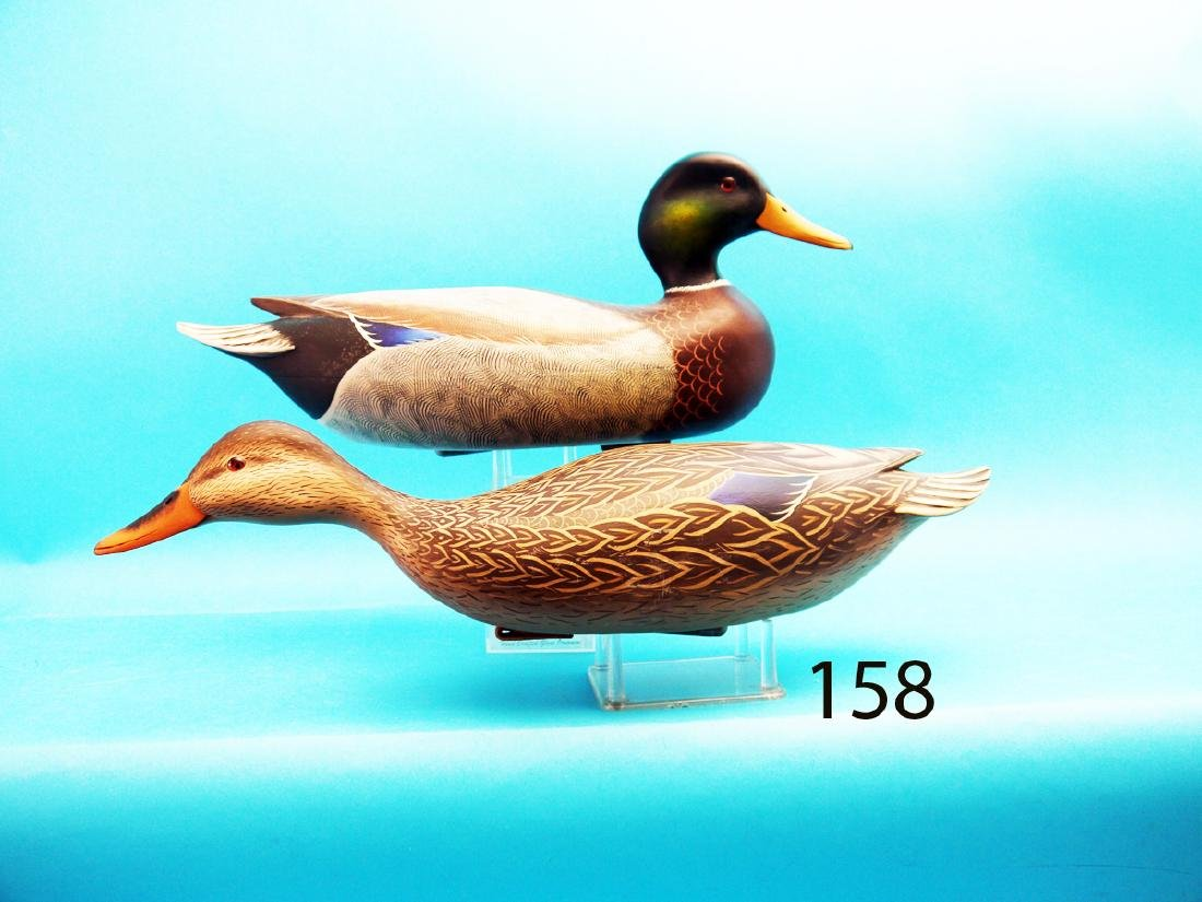 "VERY FINE PAIR OF MALLARDS by John ""Jack"" Wood,"