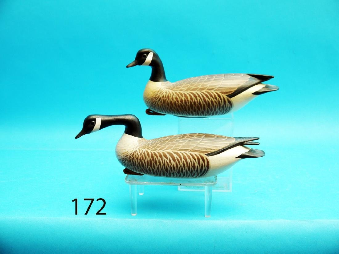 VERY FINE PAIR OF ONE-QUARTER SIZE CANADA GEESE by