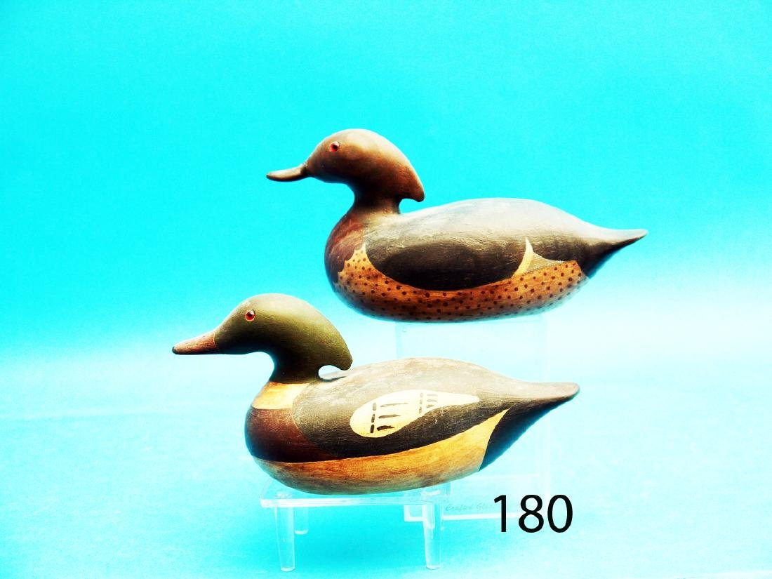 TWO ONE-THIRD SIZE MERGANSER DRAKES by John Young,