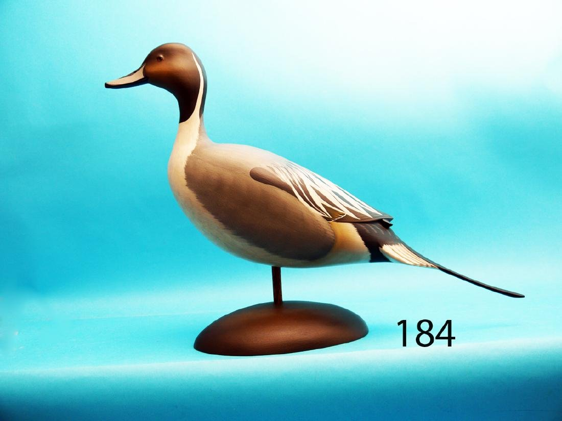 RARE AND POSSIBLY UNIQUE STANDING PINTAIL DRAKE by