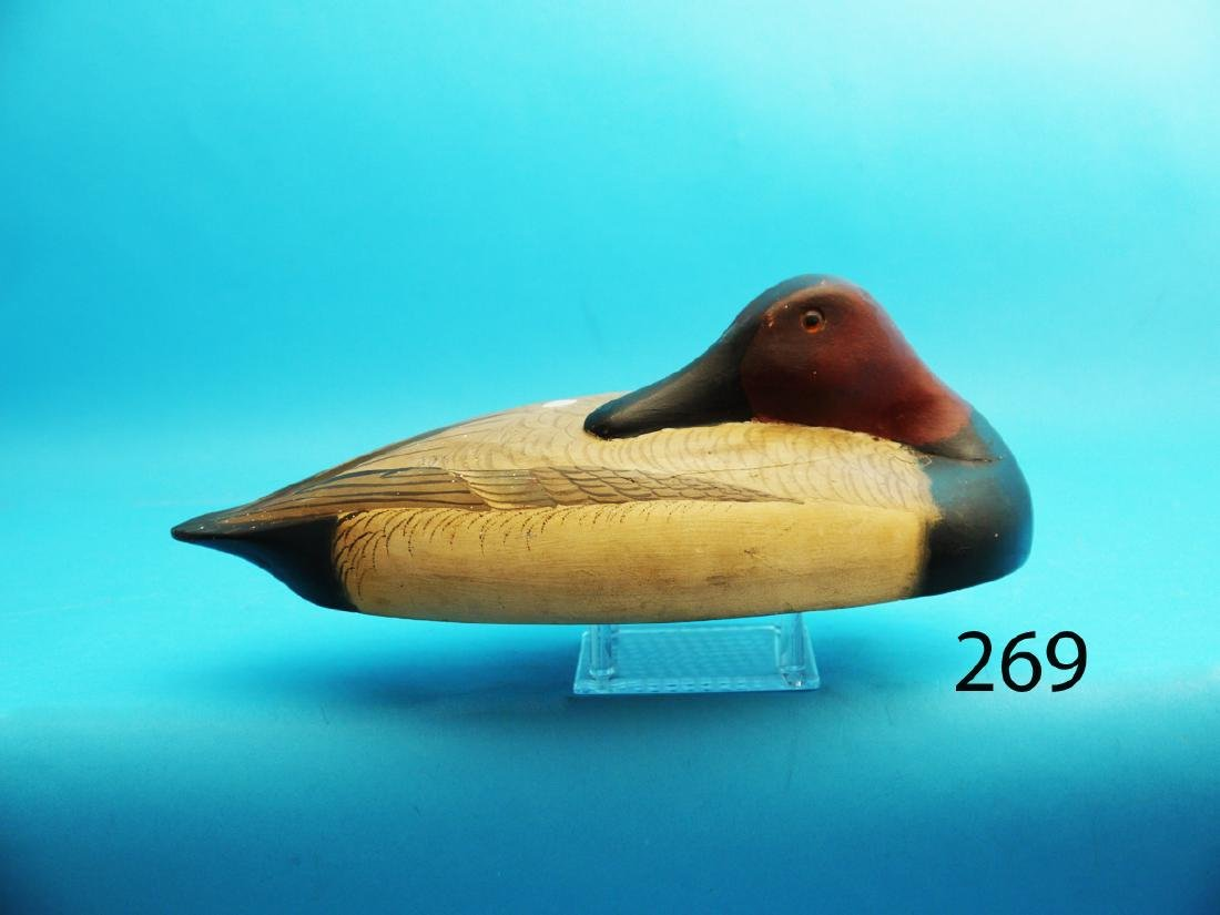 CANVASBACK WING DUCK in very good original paint and