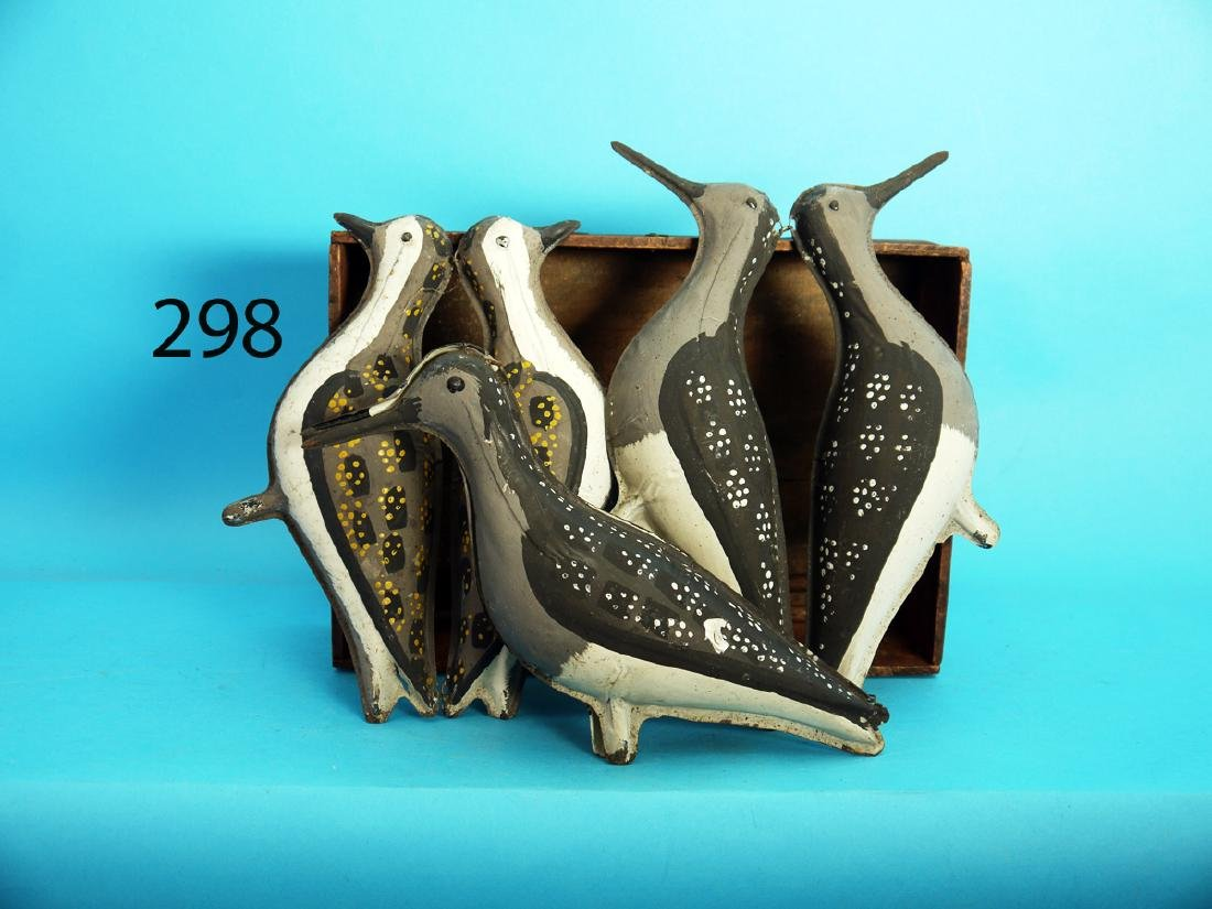 THREE VERY EARLY TINNY SHOREBIRDS by W. Reed & Co.,