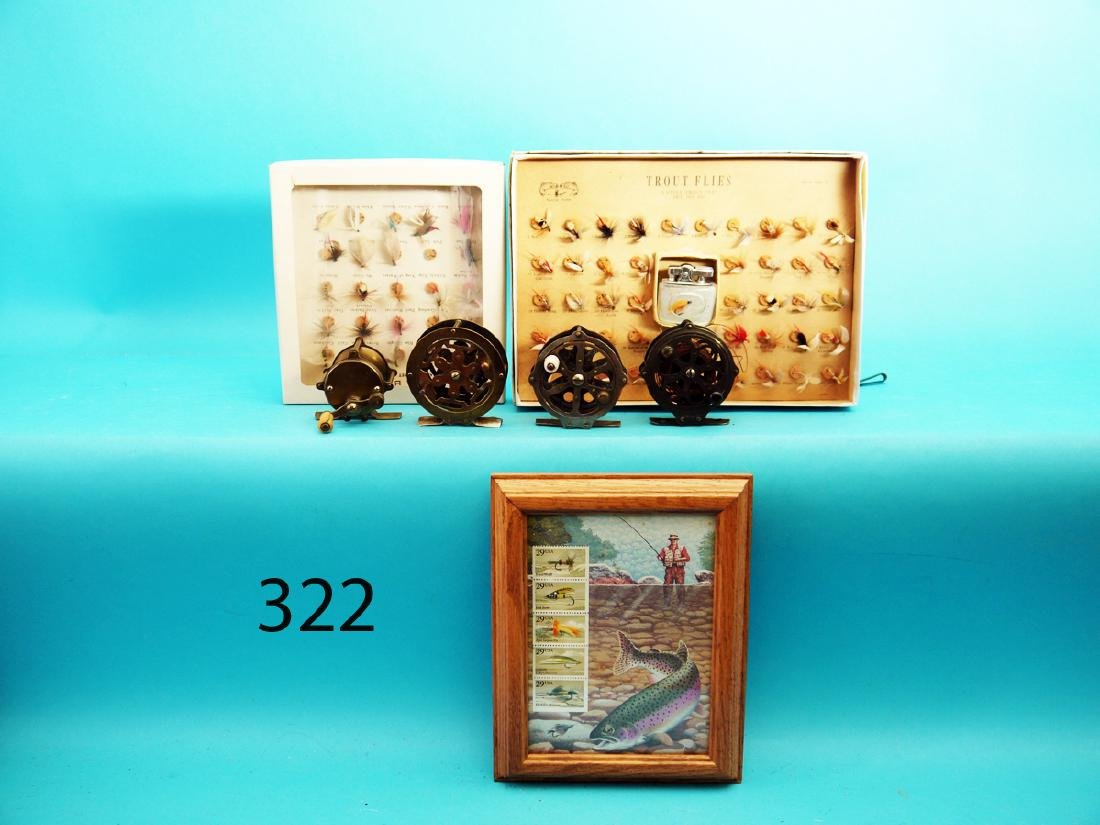 GROUP OF TWO BOXED SETS OF SALES SAMPLE TROUT FLYS, one