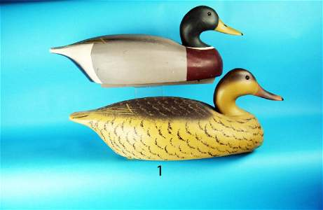 RARE PAIR OF OVERSIZED MALLARDS by the Wildfowler Decoy
