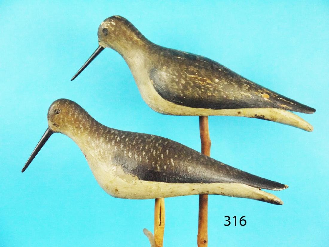 EARLY SHOREBIRD PAIR, possibly New England