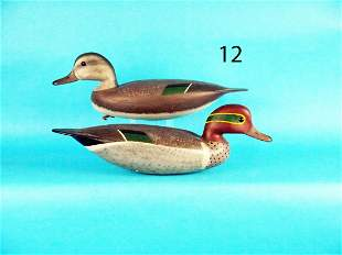 GREEN WING TEAL PAIR, H. CONKLIN