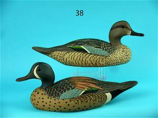 BLUE WING TEAL PAIR, WILDFOWLER