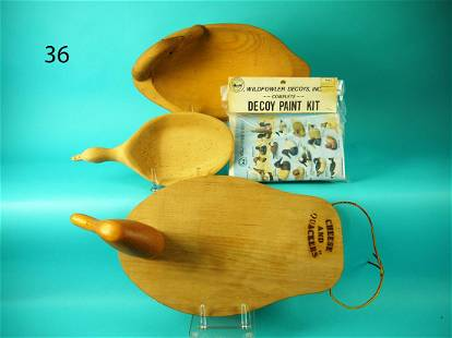 CHEESE AND QUACKER SET, WILDFOWLER