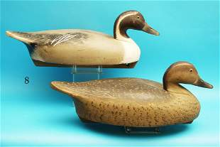 RARE PAIR OF PINTAILS by the Wildfowler Decoy Co., Old