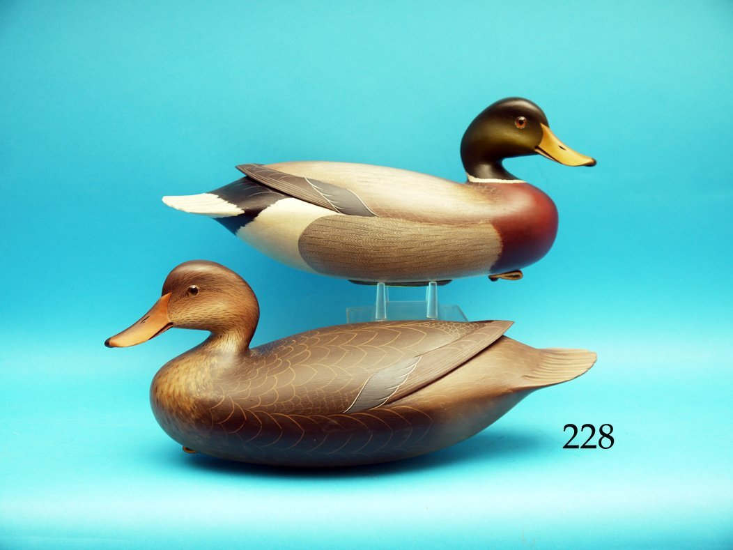 AN EXCEPTIONAL PAIR OF MALLARDS by George Strunk,