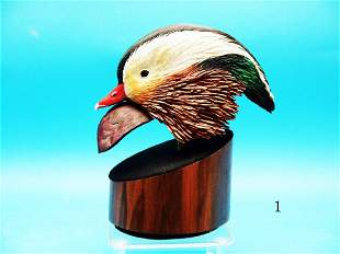 HIGHLY DETAILED COMPETITION CARVED MANDARIN HEAD by