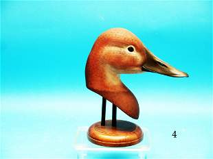 COMPETITION CANVASBACK HEN HEAD by J.E. Hazeley.