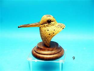 COMPEITITION WOODCOCK HEAD by world class carver John