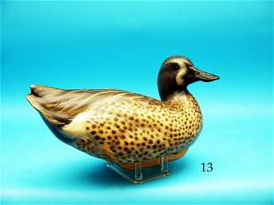 COMPETITION GRADE BLUE WING TEAL DRAKE by Peter M.