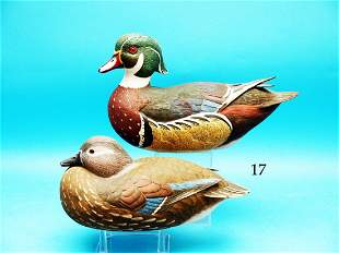 COMPETITION GRADE WOOD DUCK PAIR by John Potts,