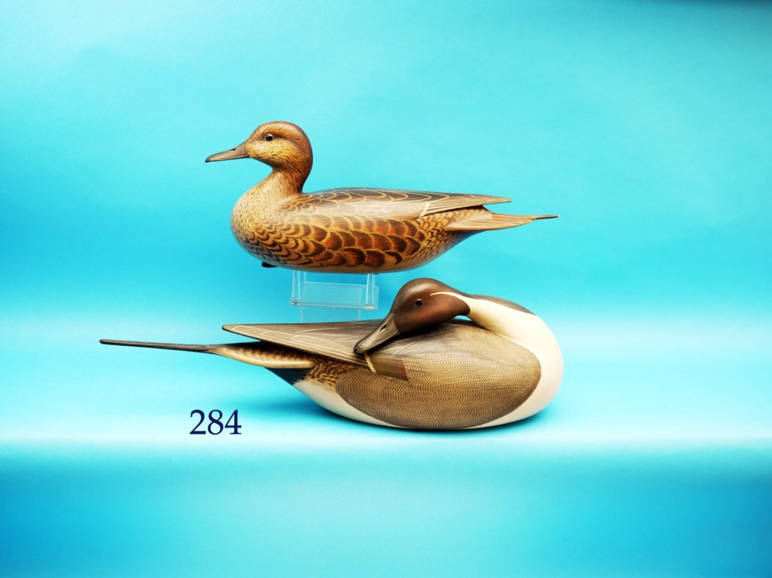 FINE AND STYLIZED PAIR OF PINTAILS by William Gibian,