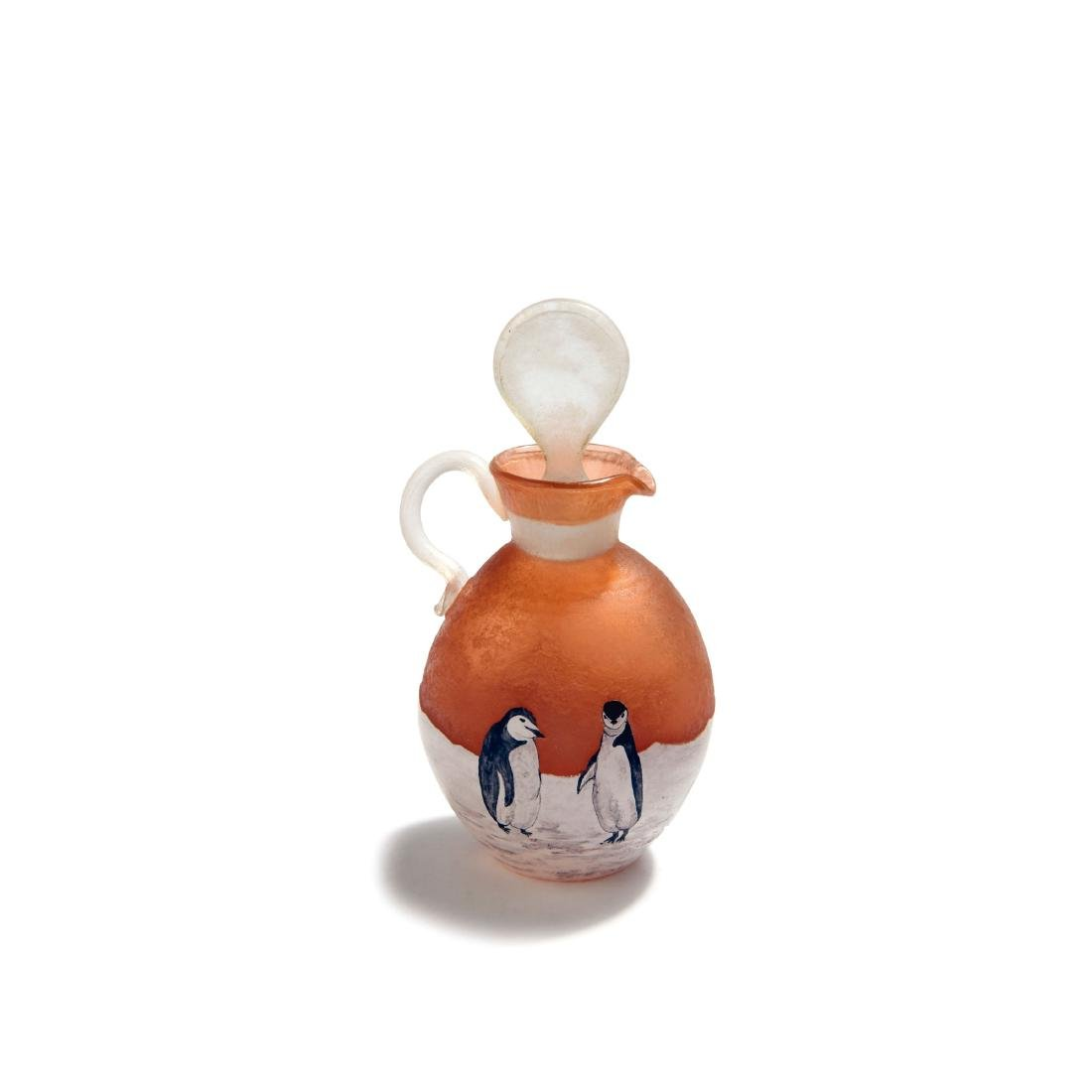 'Pingouins' flacon, c1900