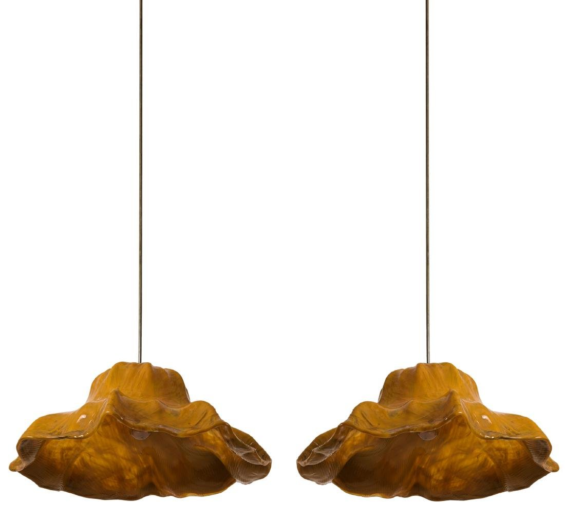 Two 'Ninfee' ceiling light, 1964