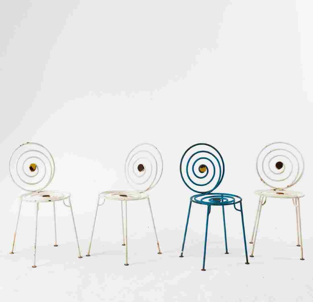 Four 'Spirale' garden chairs, c1950