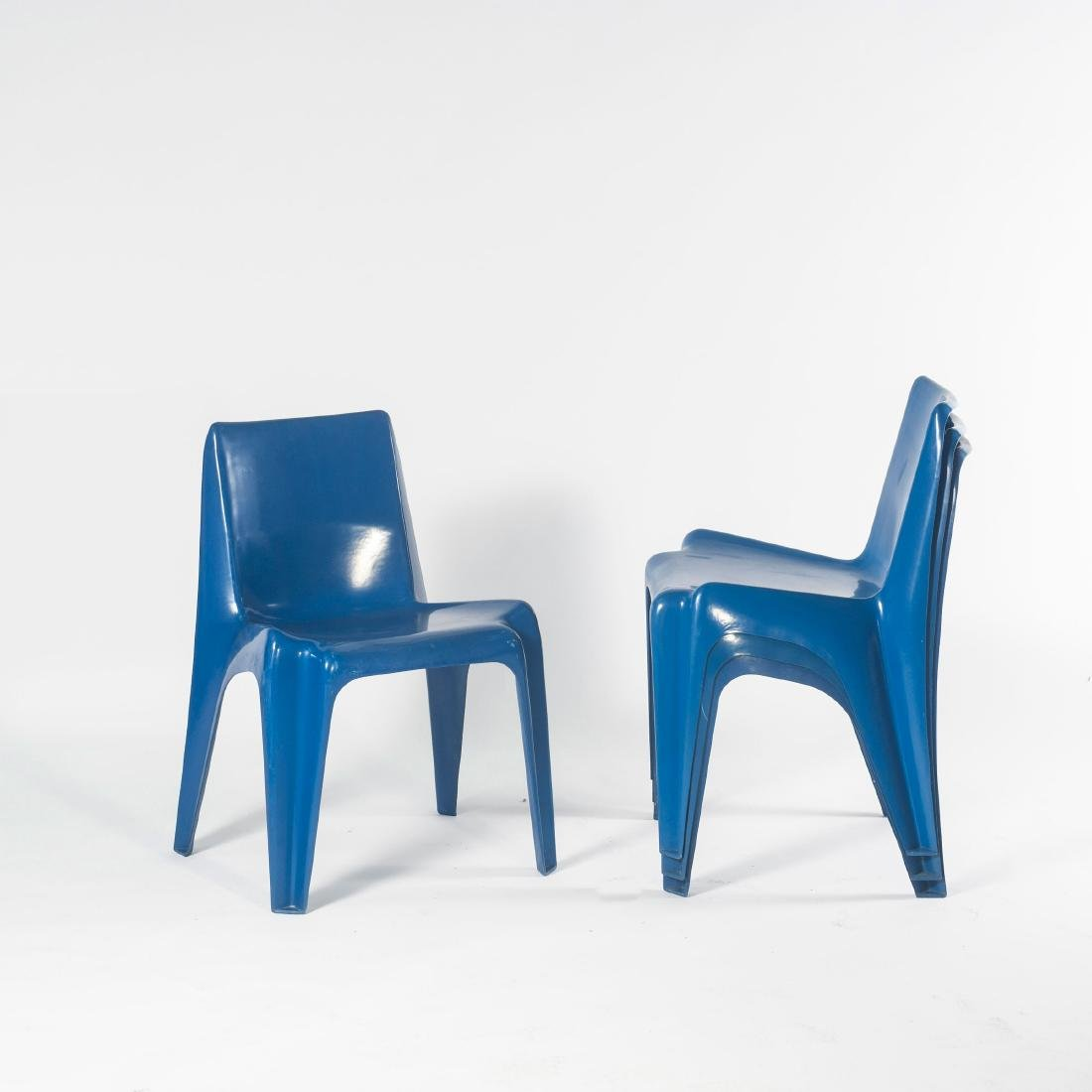 Four 'BA 1171' stacking chairs, 1964