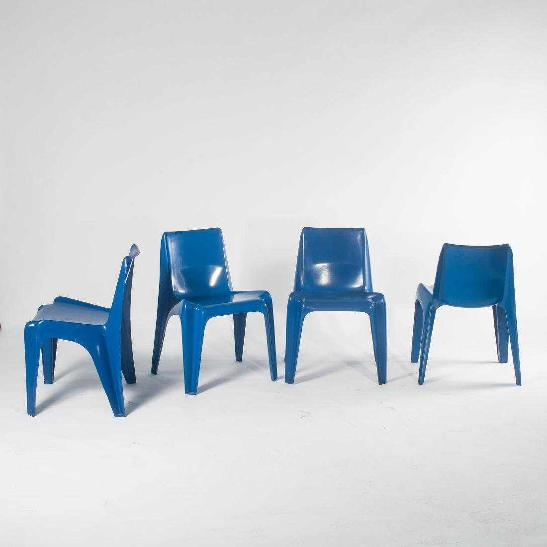 Four 'BA 1171' stacking chairs, 1964 - 4