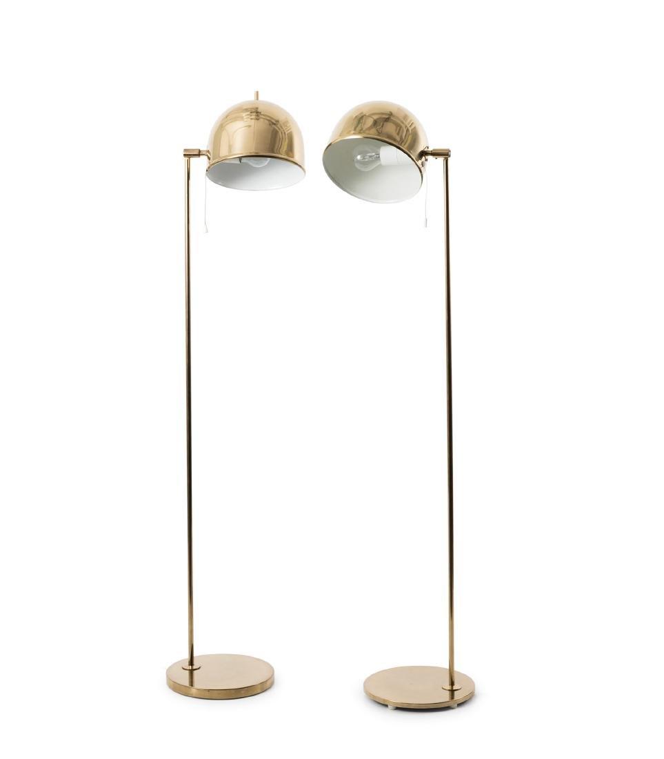 Two 'G 075' floor lamps, c1970