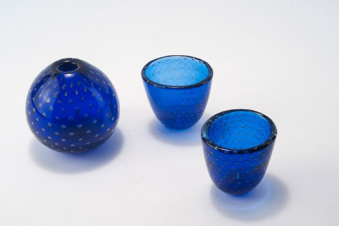 'A bolle' vase and two bowls, c1935 - 2