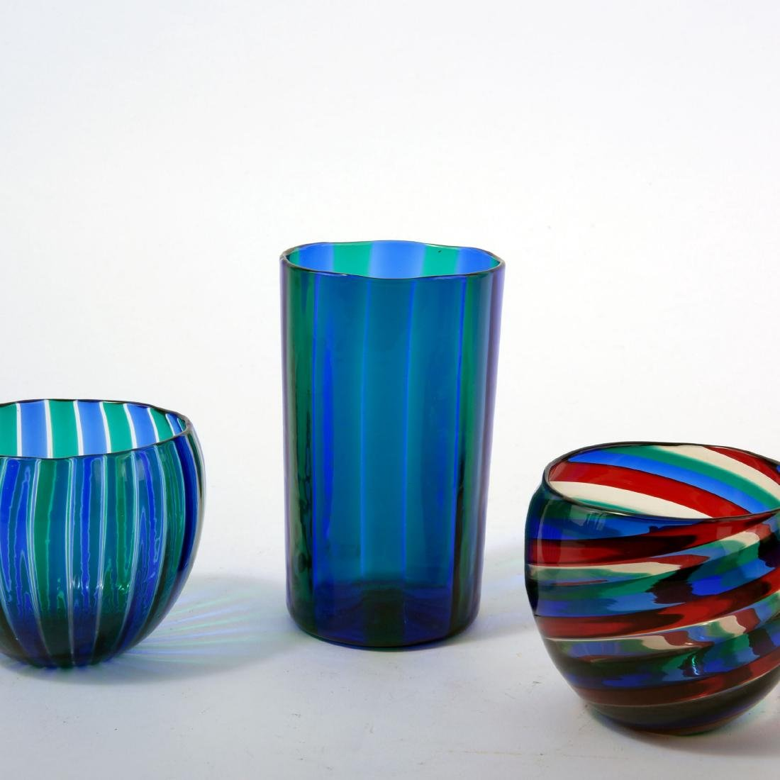 Three 'A canne' vases, 1960s - 4