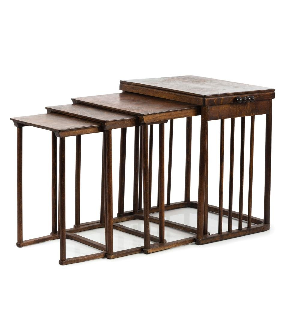 Four '986' nesting tables, c1905