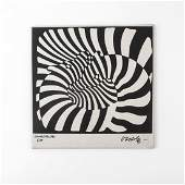 Wall tile 'Zebras', 1970s for Zsolnay, Pecs, Hungary