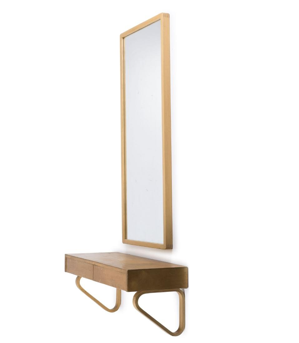 Shelf with drawers and mirror, c1936-38