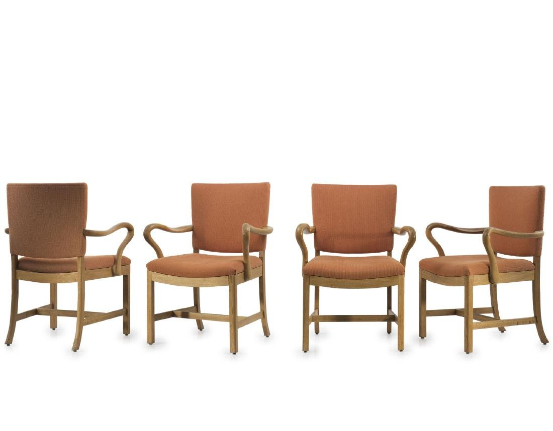 Four armchairs, 1930/40s