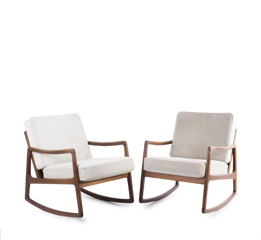 Two 'FD110' rocking chairs, 1951