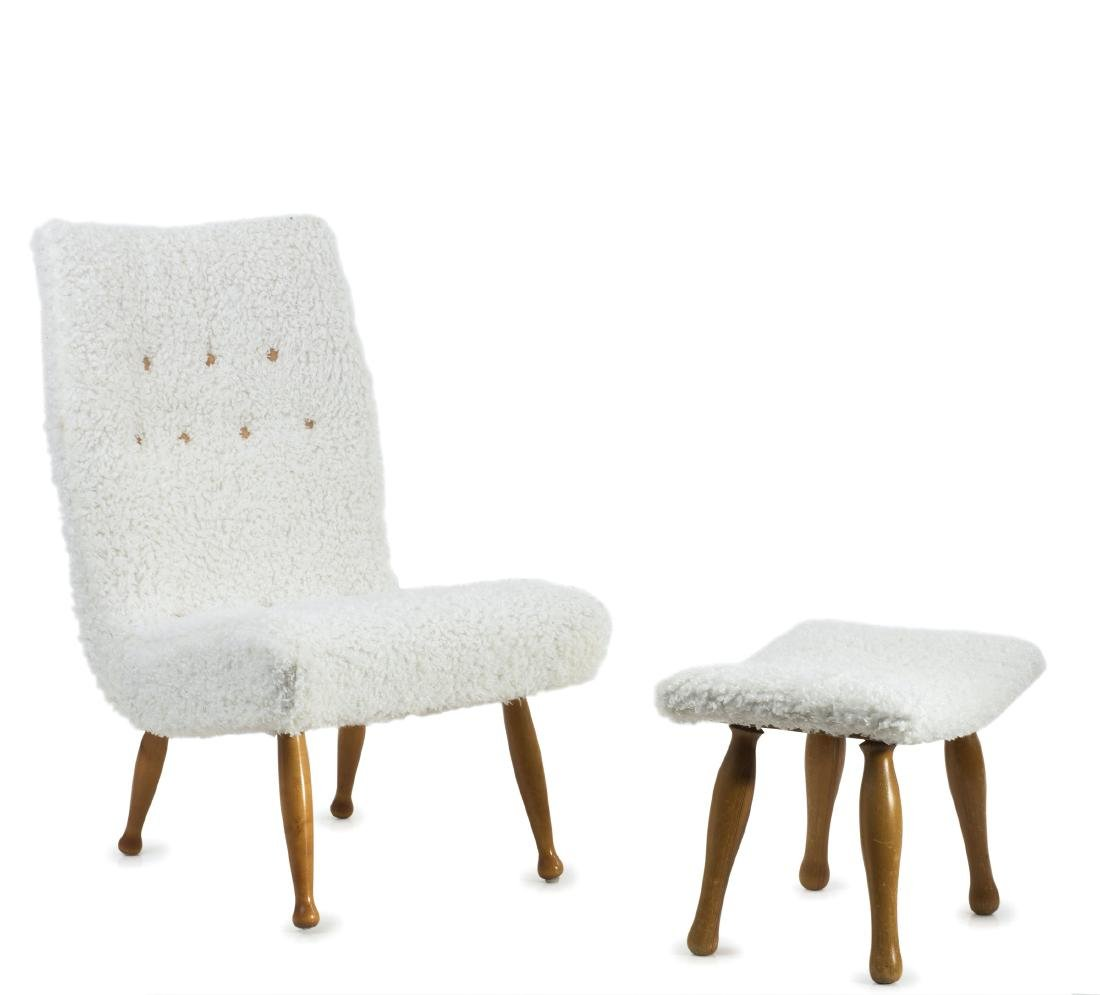Easy chair and ottoman, c1955