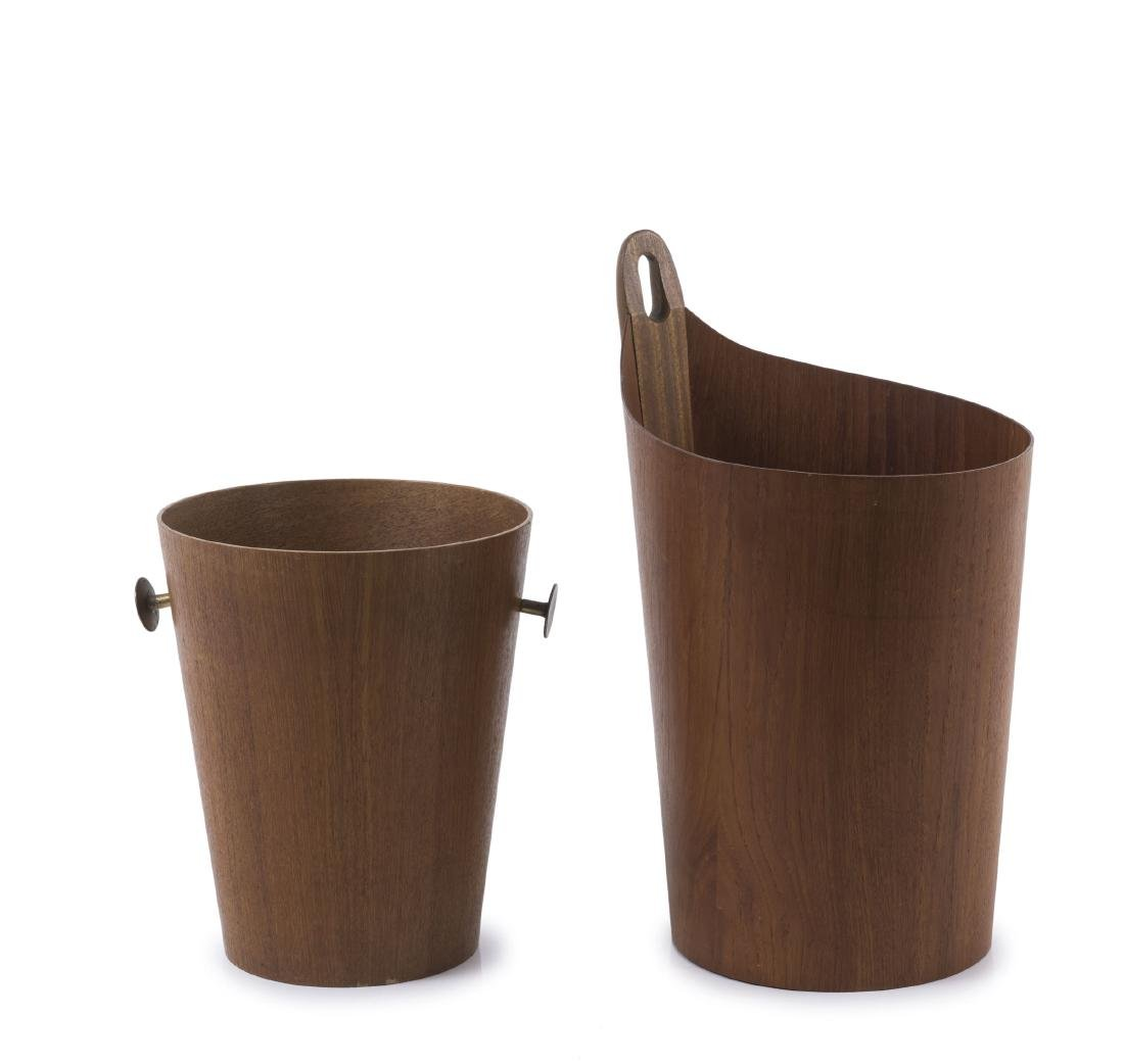 Two wastepaper baskets, c1955
