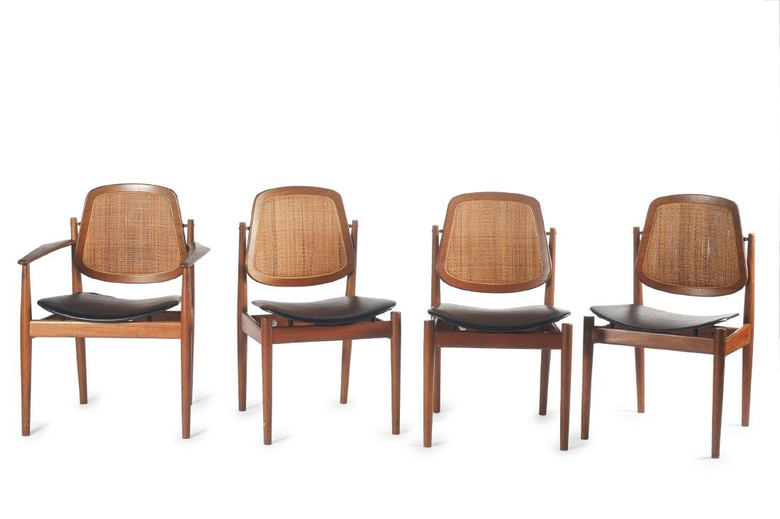 Two 'FD 186' armchairs and 6 'FD 185' chairs, 1956