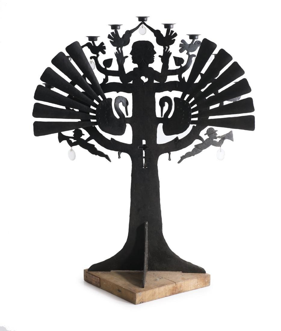Tall 'Tree' candelabrum, c1982