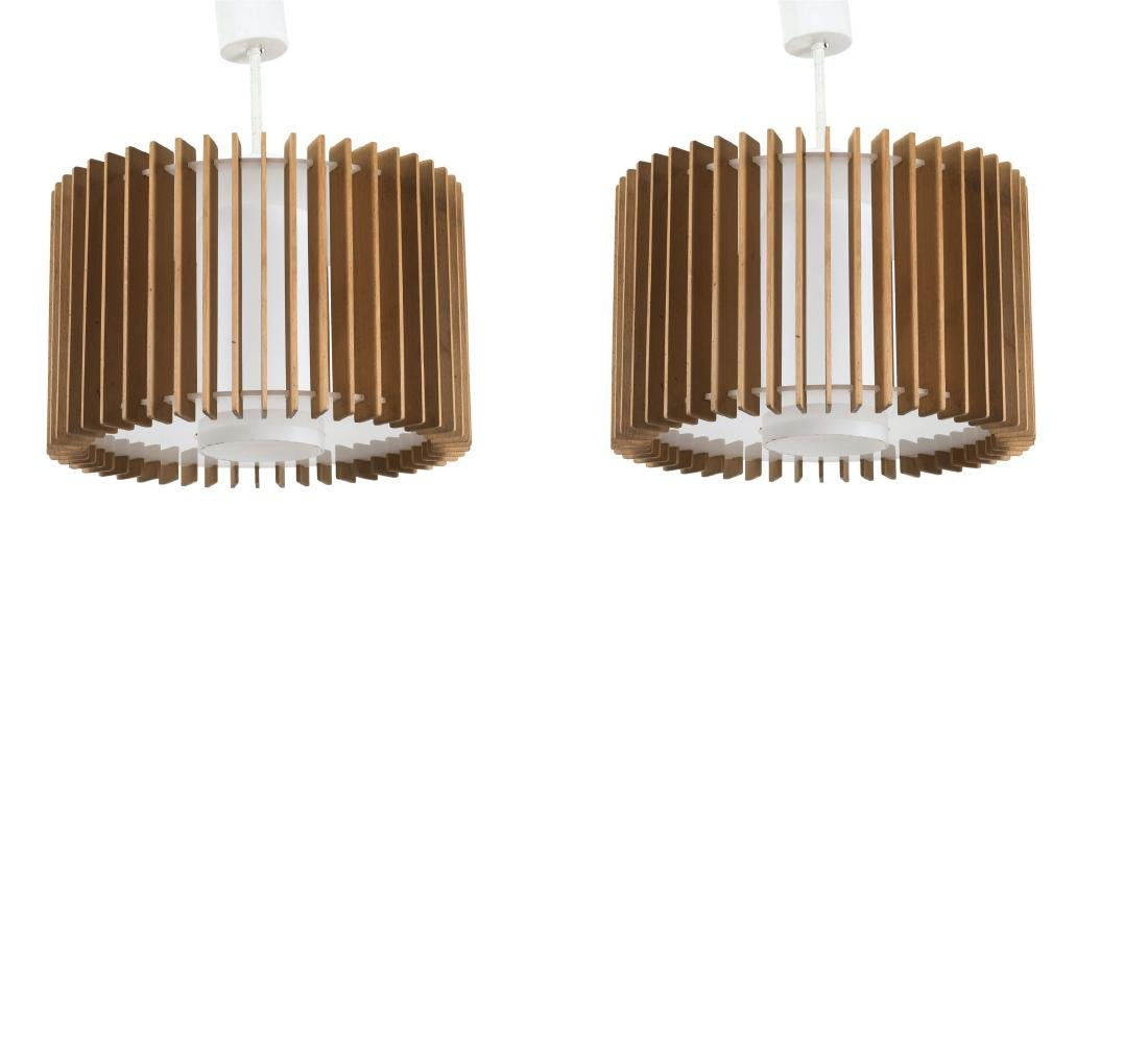 Two 'T 485' ceiling lights, 1960s