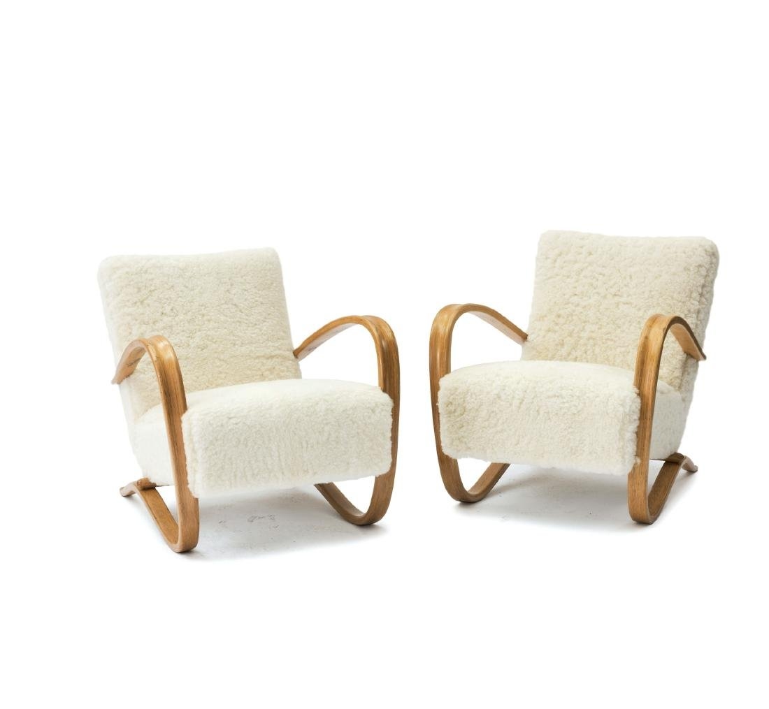 Two 'H 269' easy chairs, 1930/40s