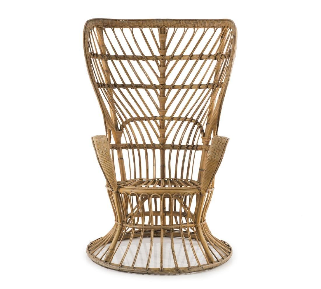 Wicker chair, c1950