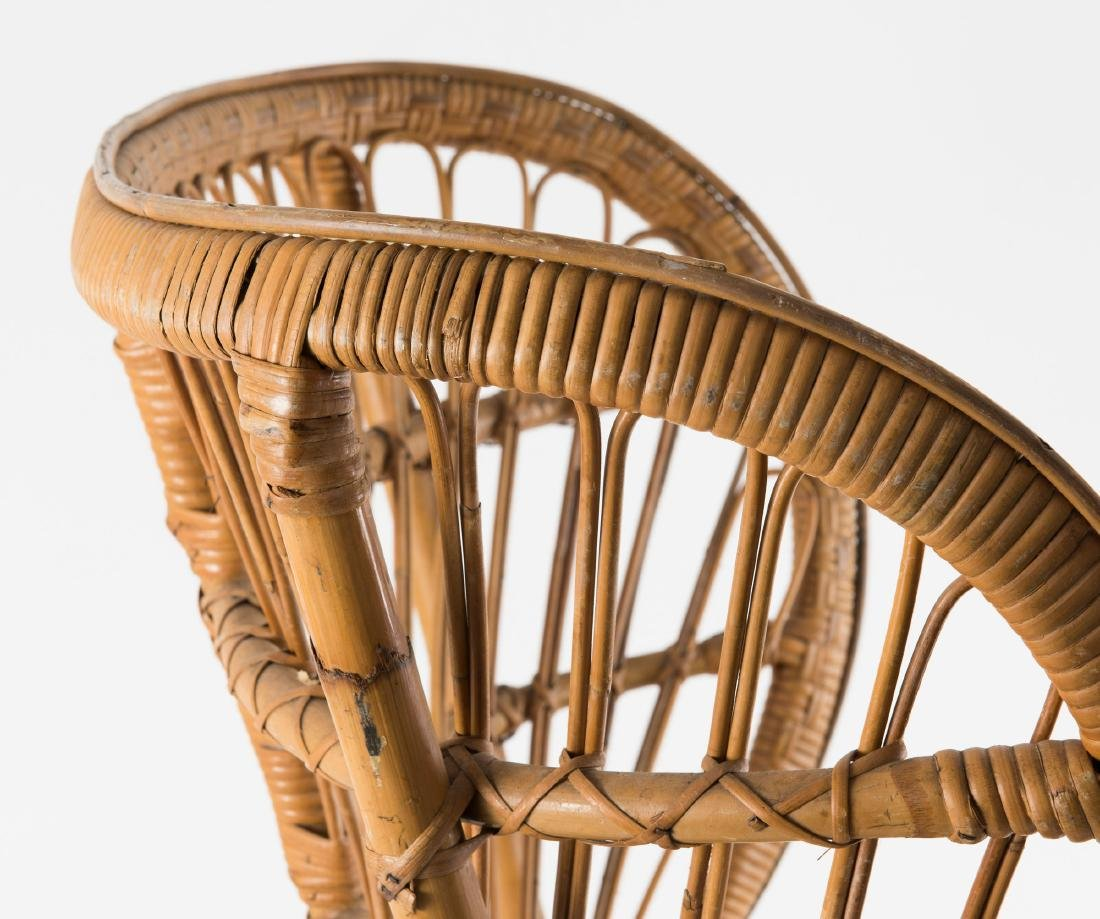 Wicker chair, c1950 - 3