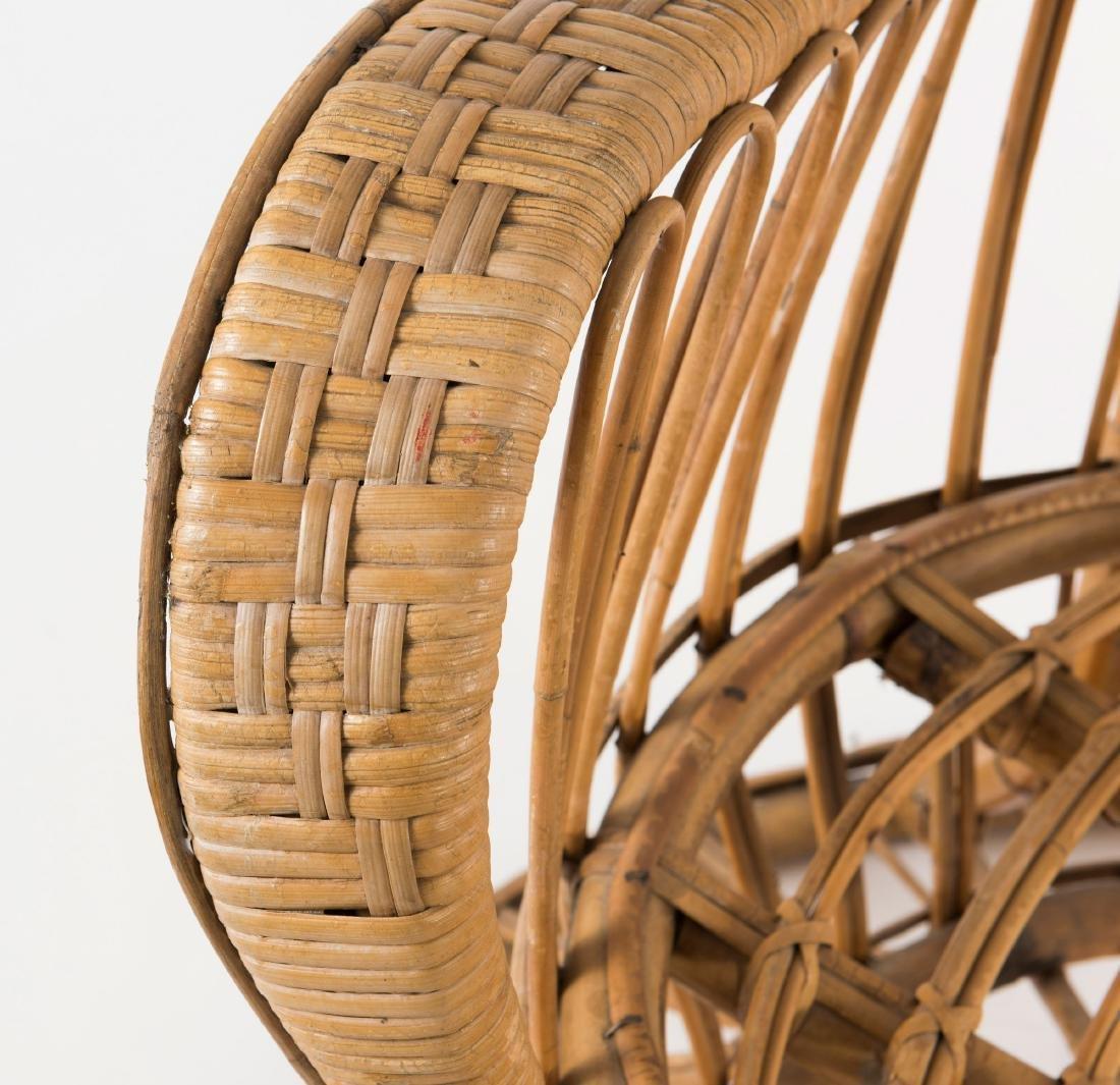Wicker chair, c1950 - 4