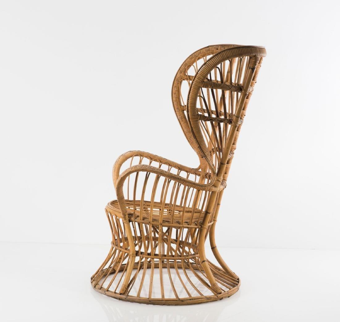 Wicker chair, c1950 - 5