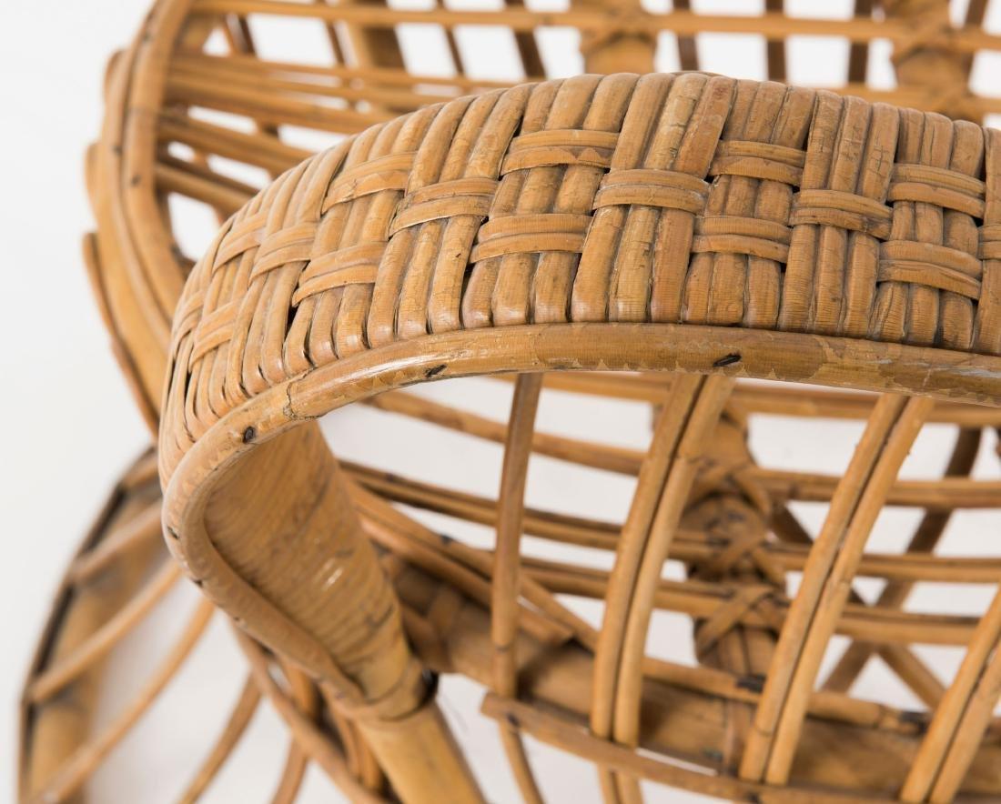 Wicker chair, c1950 - 6