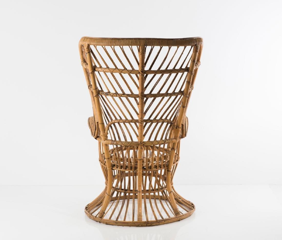 Wicker chair, c1950 - 8