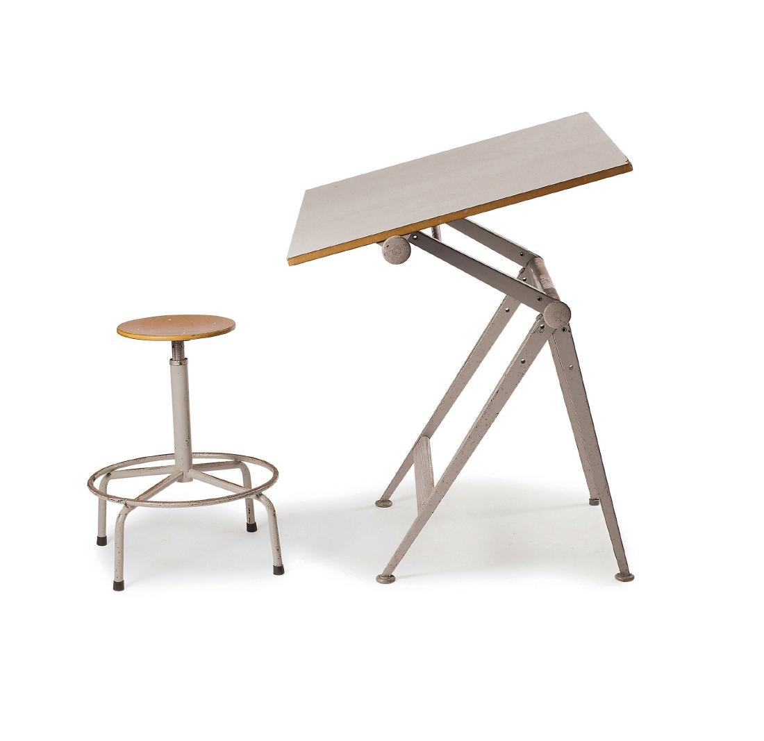 'Reply' drawing desk with stool, 1954