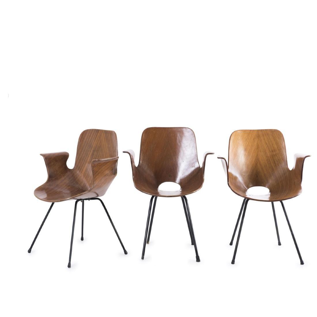 Three 'Medea' armchairs, 1955