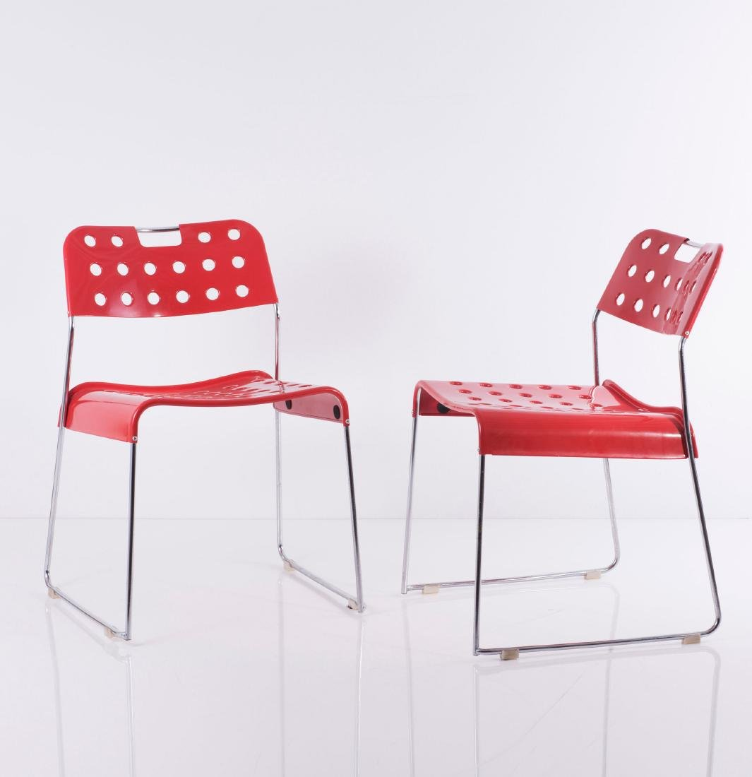 Two 'Omstack' stacking chairs, 1970 - 2