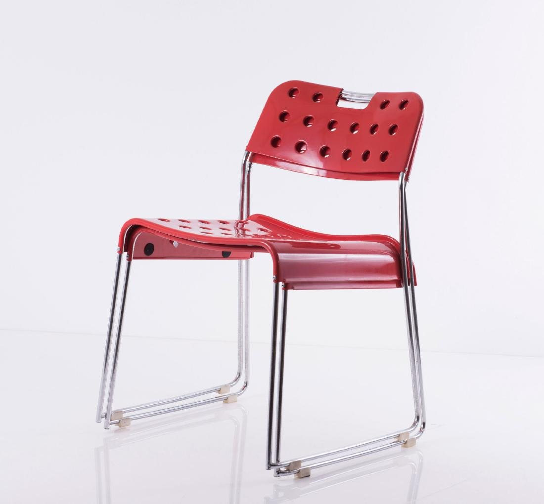Two 'Omstack' stacking chairs, 1970 - 3